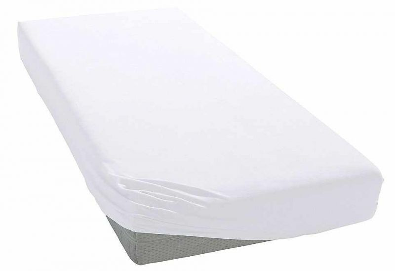 Gumis pamutlepedő (fehér, 160x80)