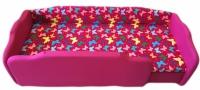 R 72 - Pink-pillangó, normál /JOBBOS/ +dupla szivacs + 3 cm támla magasítás